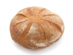 6405189-fresh-round-bread-on-white-background